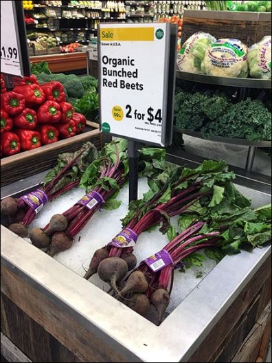Iced Organic Red Beet Bunches 2