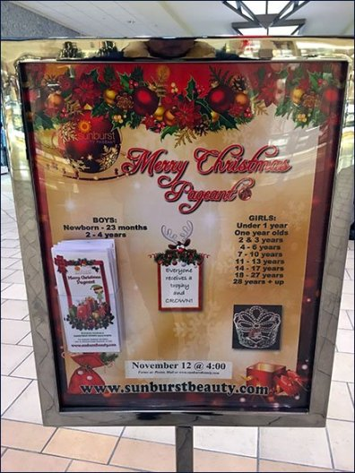 Mall Christmas Pageant Concourse Advertising 2