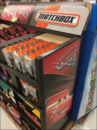 Matchbox Die Cast Metal Cars Display