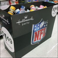 NFL Partyware Display By Hallmark Feature