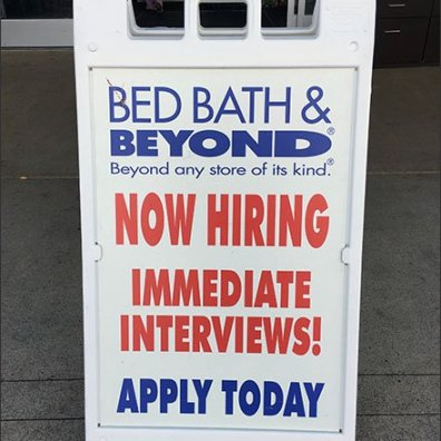 Now Hiring Immediate Interviews Sign