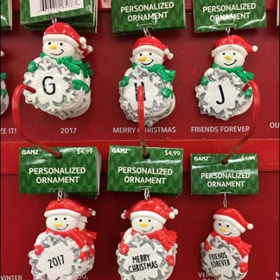 Personalized Christmas Ornament J-Hooks