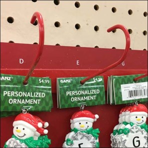 Personalized Christmas Ornament J-Hooks Feature