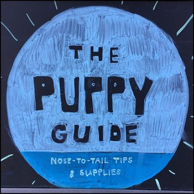 Puppy Guide Sidewalk Sign Square