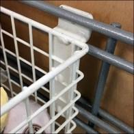 Rectangular Wire Basket Slatwall Mounts