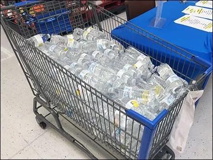 Single Serve Water Shopping Cart Bulk Bin