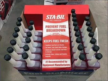 Peak-Season Fuel Additive Display by Sta-Bil