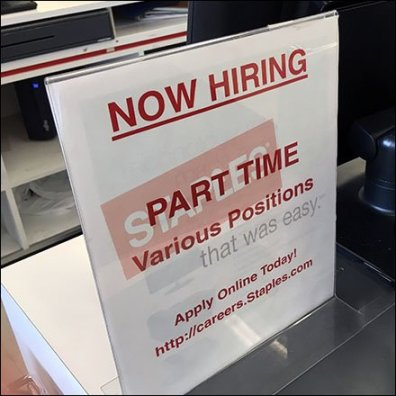 Hiring Part Time For Various Positions