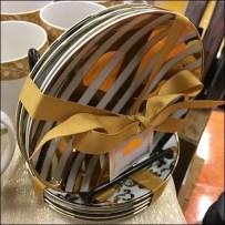 Ribbon Tied Bow Christmas Tableware