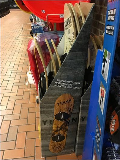 Upright Snowboard Sales in Grocery