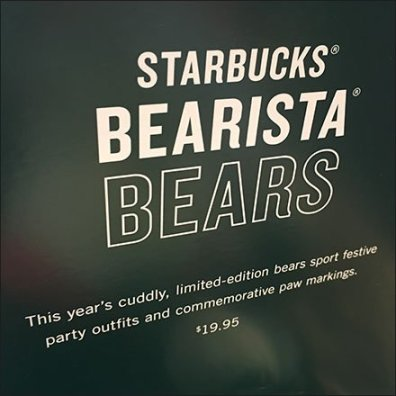 Bear Barista Rope Bulk Bin At Starbucks