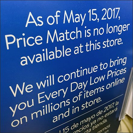 Competitor Price Match Discontinued Feature