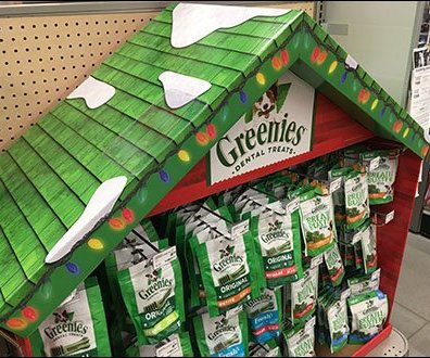 Dental Treats Dog House Display At PetSmart