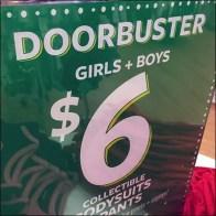 Doorbusters Vertical Acrylic Table-Top Sign