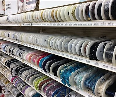 Elliptical Spool Ribbon Shelf Merchandising