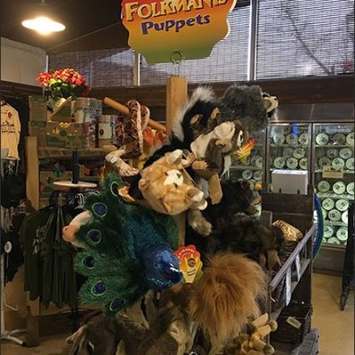 Folkmanis Hand Puppet Farm Store Display