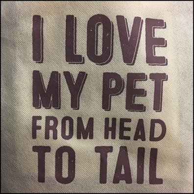 I Love My Pet Branded Shopping Bag