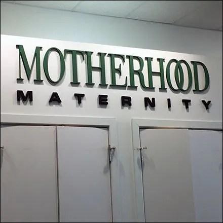 Motherhood Maternity Service Counter Branding