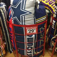 NFL Football Body Pillow Bulk Bin