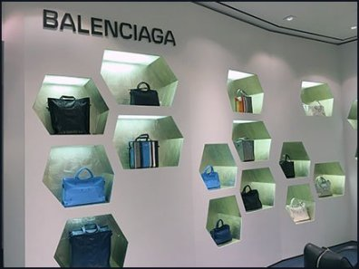 Balenciaga Purse Hexagonal Wall Niche Display