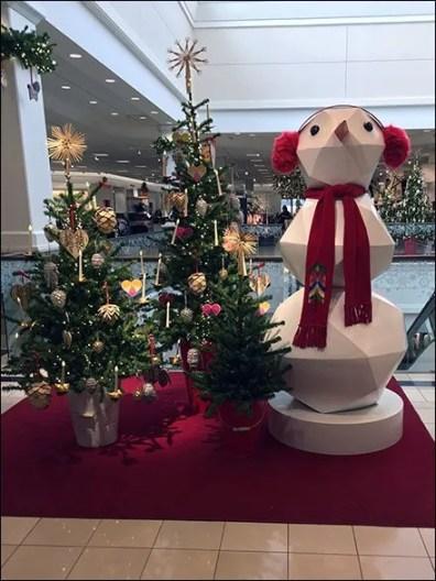 Giant Snowman Polyhedron Visual Merchandising