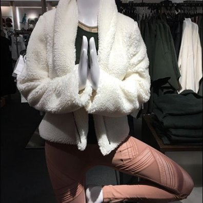 Winter Fur Athleisure Display at Nordstrom