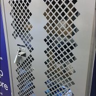 Online Order Pick Up Perforated Security Cabinet
