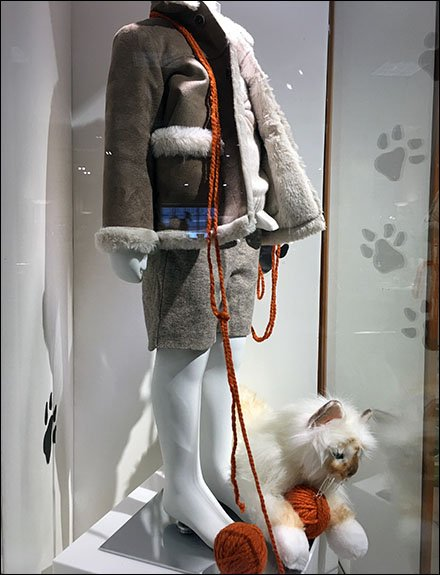Playful Pet Prop Museum Case At Neiman Marcus