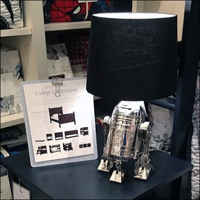 Pottery Barn Kids Star Wars R2D2 Lamp Prop Feature