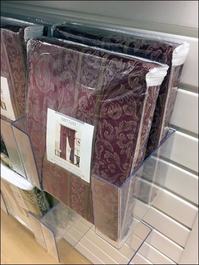 Slatwall Acrylic Literature Holders For Linens
