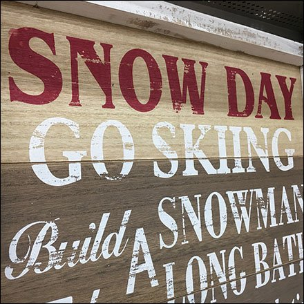 Get Your Snow Day Signage At Michaels