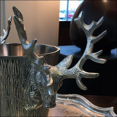 Stag Head Ice Bucket Feature