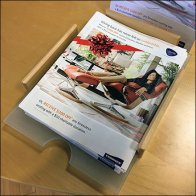 Stressless Table-Top Literature Holder Tray Inbox Feature