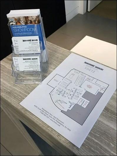 Sub-Zero Showroom Layout Map Handout