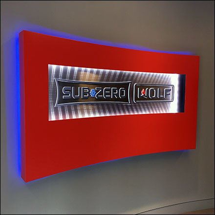 Sub-Zero Retail Fixtures - Sub-Zero Showroom Wall Branding Sign