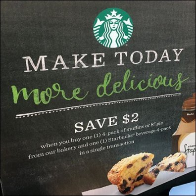 Weis Starbucks Coffee Cross Sell To Bakery Feature