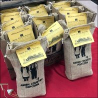Amish Country Popcorn Burlap Bag Feature