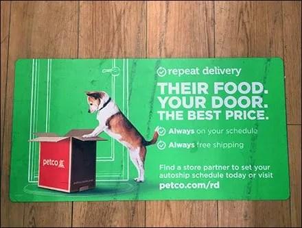 Automatic Pet Feeding Service Floor Graphic
