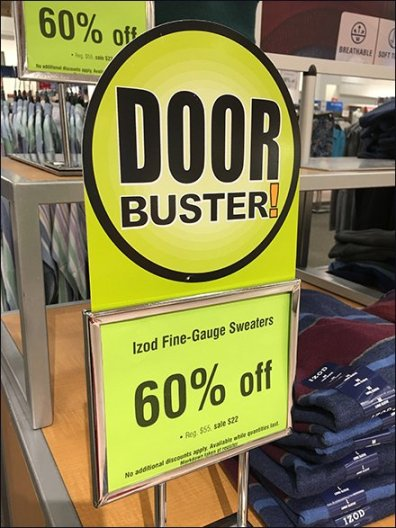 Door Busters Die-Cut and Not Sale Headers