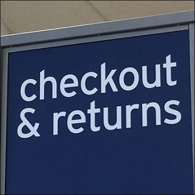 Checkout And Returns Queue Sign Tower Feature