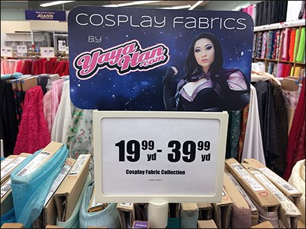 Cosplay Fabric Merchandising Header at JoAnns