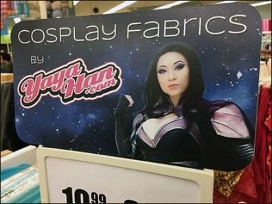 Cosplay Fabric Merchandising Header at JoAnns