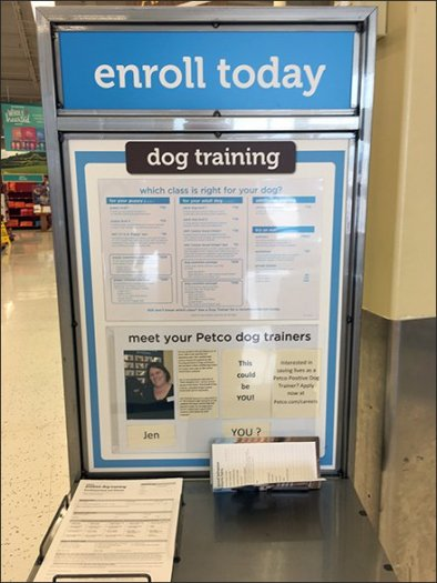 Dog Training Signup Station, Bring Your Own Pen