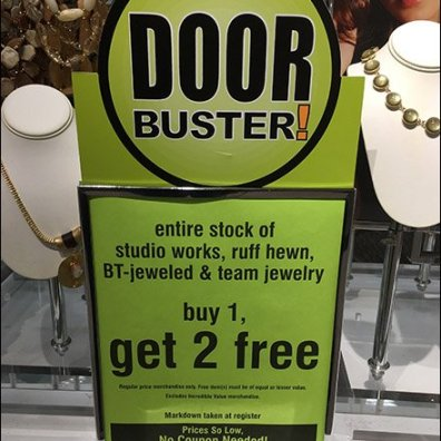 Door Busters Tablet Top Sign Frame