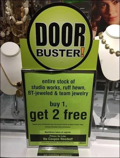 Door Busters Tablet Top Sign Frame