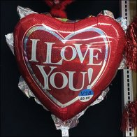 I Love You Valentines Day Inflatable Balloon Aux