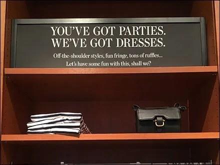 You've Got Parties, We've Got Dresses Sign