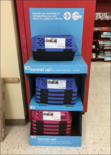 Kennel Corrugated Point-of-Purchase Display