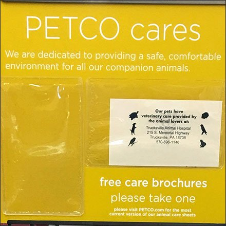 In-Store Veterinary Referral Recommendation Sign