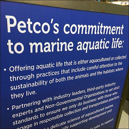 Petco Commitment To Marine Aquatic Life